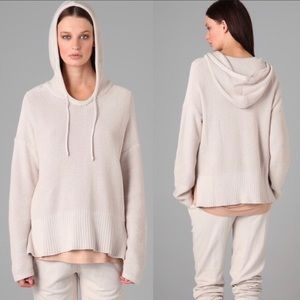 T Alexander Wang Cotton Chunky Knit Hoodie Sweater